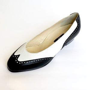 Vintage BALLY Black & White Spectator Shoes
